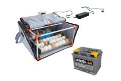 Incubadora de huevos Broody Micro Battery - incubadora con batería, incubadora con energía de respaldo