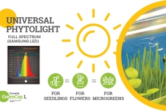 home grow light propagator with humidity regulation