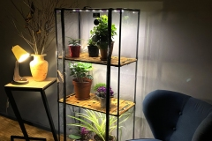Indoor greenhouse Sezam XL Bamboo with grow light and shelves for home, balcony, terrace, patio