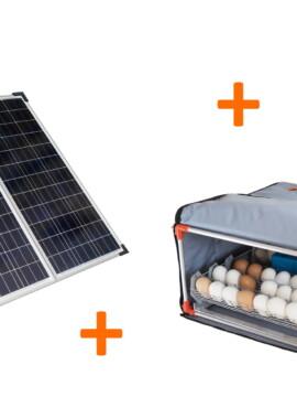 Incubadora en baterías solares